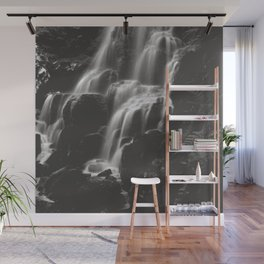 Fairy Falls Waterfall II - Black and White Wall Mural