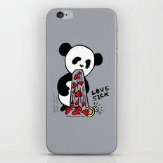 LOVESICK PANDA - grey iPhone & iPod Skin