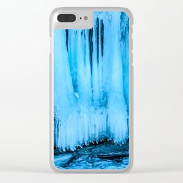 Ice curtain of the lake Baikal Clear iPhone Case