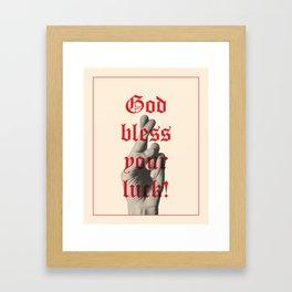 God Bless Your Luck Framed Art Print