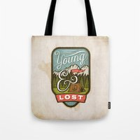 camp Tote Bags featuring Camp by Seaside Spirit