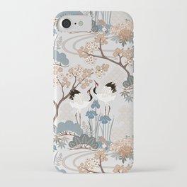 Japanese Garden Gray iPhone Case