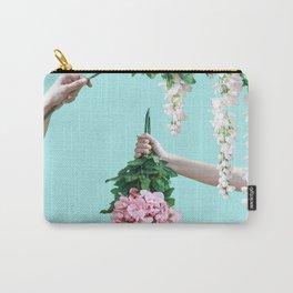 1992 Floral Episodes (Aqua) Carry-All Pouch