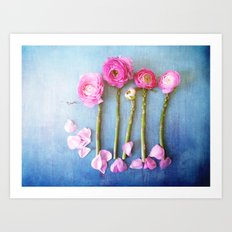 Wild Flowers and Spring Asparagus Art Print
