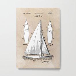 patent art Herreshoff  Sail Boat 1925 Metal Print