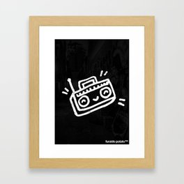 Boom Box Framed Art Print