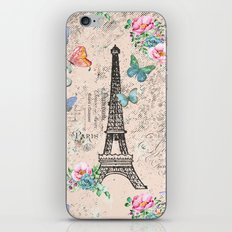 Paris - my love - France Nostalgy- pink French Vintage iPhone & iPod Skin