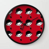 chaplin Wall Clocks featuring chaplin by guizmo04