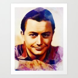 Robert Young, Vintage Actor Art Print