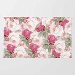 Roses floral pattern Rug