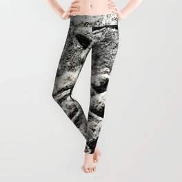 Ancient Church Carvings Leggings