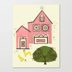 Farm House Pink Canvas Print