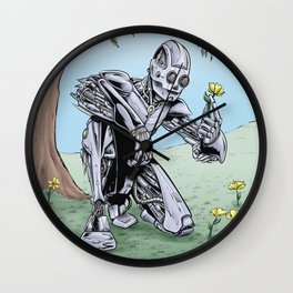 Stop to Smell the Flowers Wall Clock