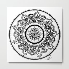 Mandala for the Journey Metal Print