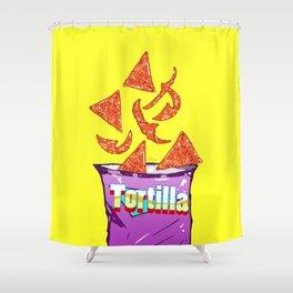 Hot Nachos: Junkies Collection Shower Curtain