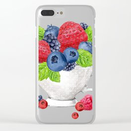 Berries in a Cup Clear iPhone Case