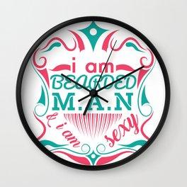 Bearded Man & Sexy Wall Clock