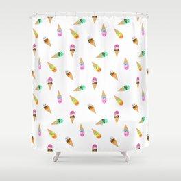 Ice Cream Bubbys Shower Curtain
