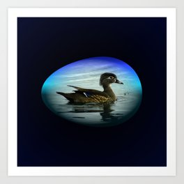 Duck Egg Art Print