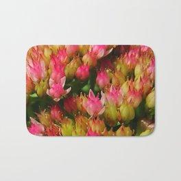 buds of pink flowers Bath Mat