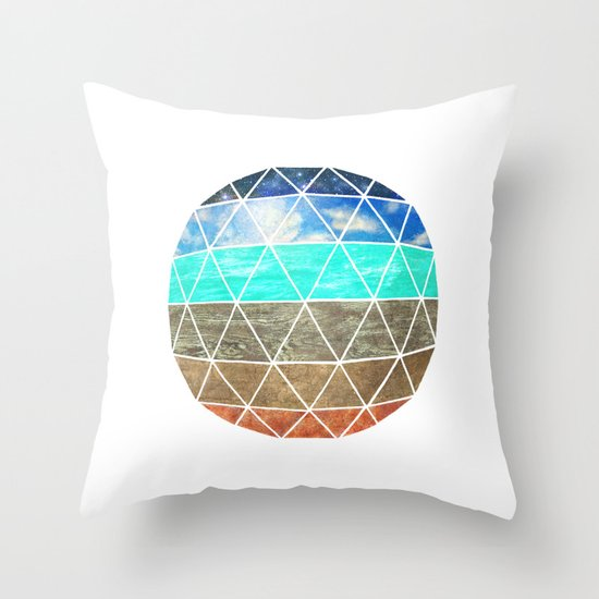 Elemental Geodesic  Throw Pillow
