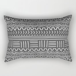 Mud Cloth on Gray Rectangular Pillow