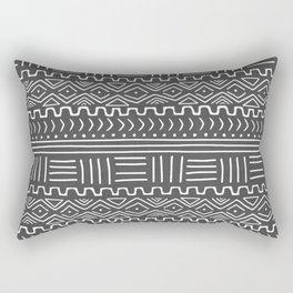 Mud Cloth on Gray Rectangular Pillow