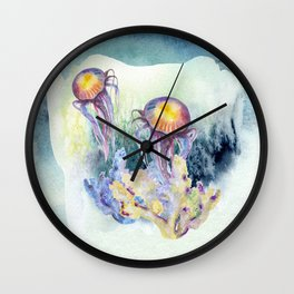 Watercolor Under Sea Collection: Jellyfish Wall Clock
