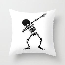Dabbing skeleton (Dab) Throw Pillow