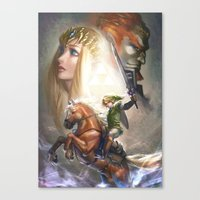 legend of zelda Canvas Prints featuring Legend of Zelda by hart-coco