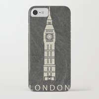 london iPhone & iPod Cases featuring London by NJ-Illustrations