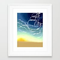 sail Framed Art Prints featuring Sail by Megan Fitts