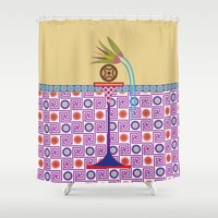 bread Shower Curtains featuring Ancient Bread #1 by Paco Dozier