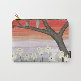 psychedelic spring scene Carry-All Pouch
