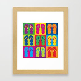 Pop Art Flip Flops Framed Art Print