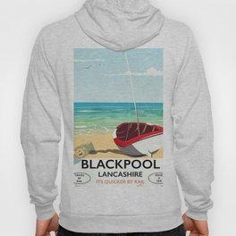 Blackpool, Lancashire, Rail poster Hoody