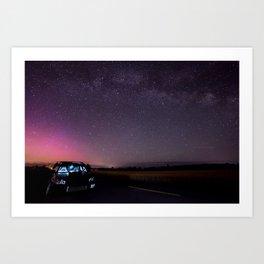Nocturnal Subaru Art Print