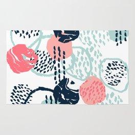 Mellie - abstract minimal modern art print painted boho hipster gender neutral canvas art Rug