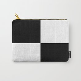 Black & White Squares Carry-All Pouch