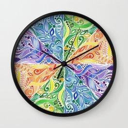 Carnival Mandala - Multicolored Wall Clock