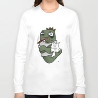 trout Long Sleeve T-shirts featuring Thugged out Trout by Astra Halliday