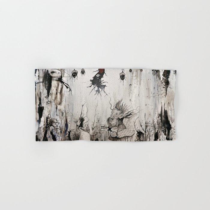 Black and White and a Rubin Hand & Bath Towel