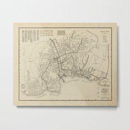 Santa Cruz Art, City Map, Monterey Bay, Santa Cruz Artwork, Vintage Wall Art, Home Decor, Art Print Metal Print