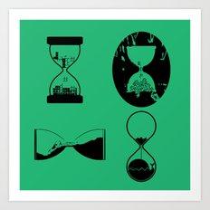 hourglasses Art Print