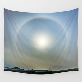 Plane in the Sun circle Wall Tapestry