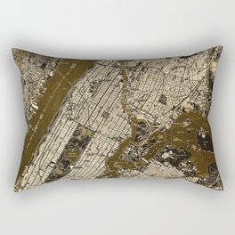 Central Park 1947, old vintage map, map poster new york Rectangular Pillow