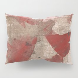 Brown red angular watercolor Pillow Sham