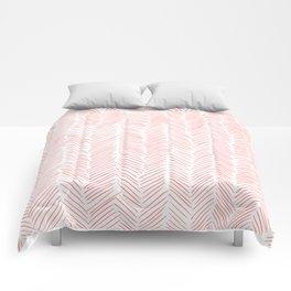Living Coral Herringbone Comforters