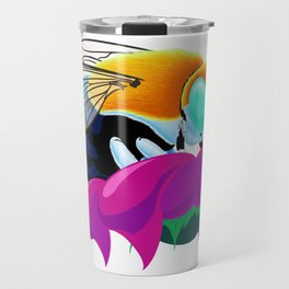 Blue Banded Bee Travel Mug