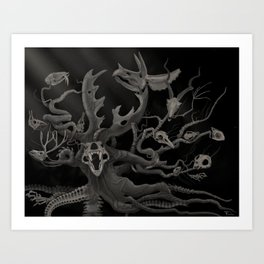 and blind Oblivion swallowed cities up Art Print